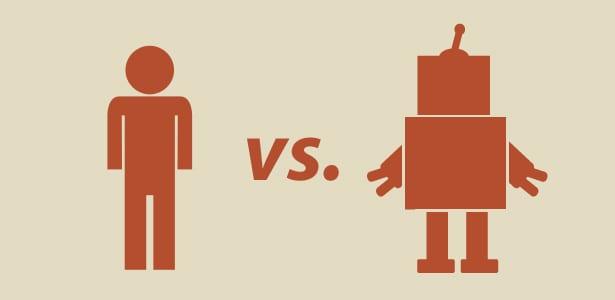 الانسان في مواجهة الروبوت