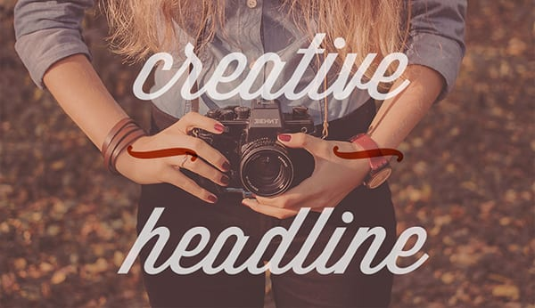 """creative headline"" using unique fonts and spacing for a stylized image"