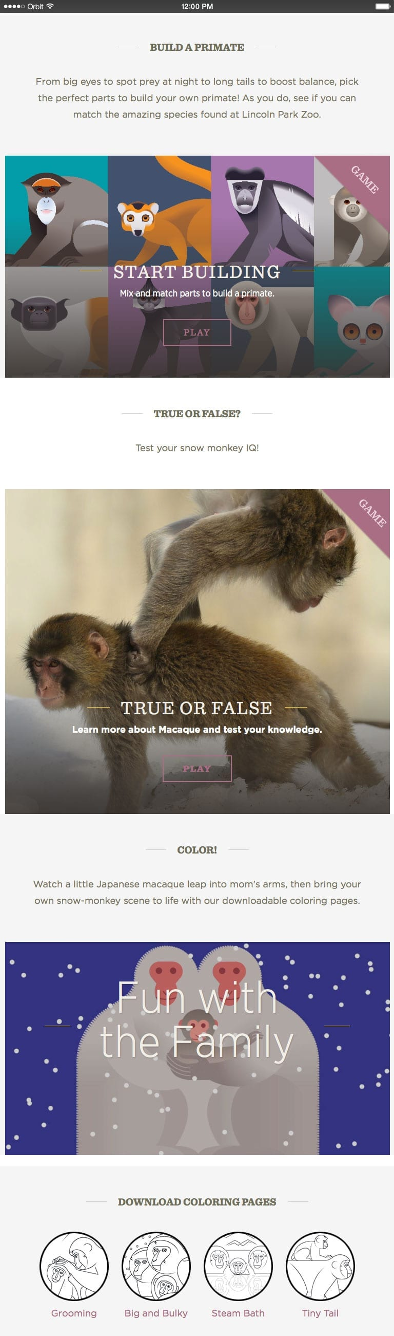 Kids Can Also Test Their Snow Monkey IQ Playing An Interactive True False Quiz And The Fun Continues Offline With Downloadable Coloring Pages