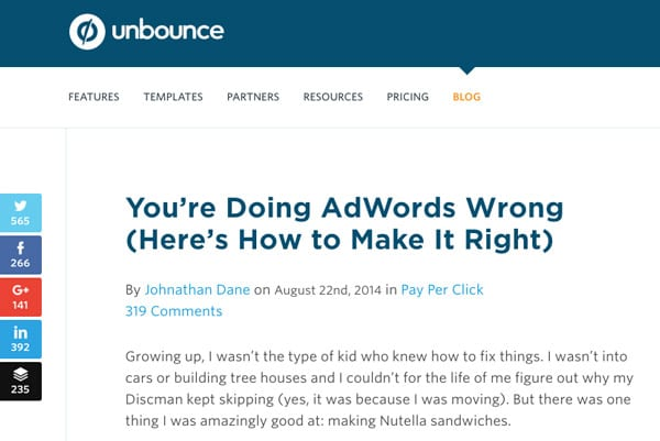 Guest blog post with Unbounce - image source
