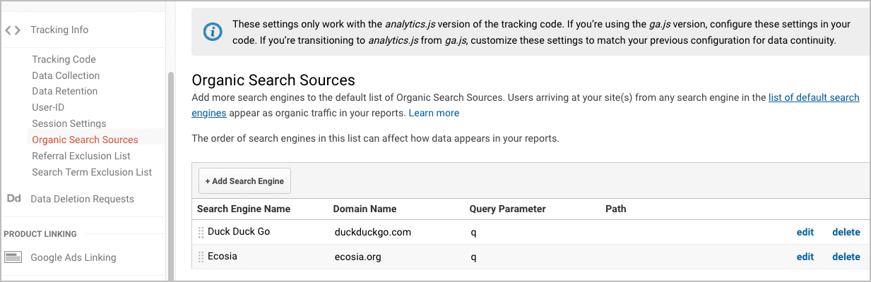 how to customize referral sources in google analytics