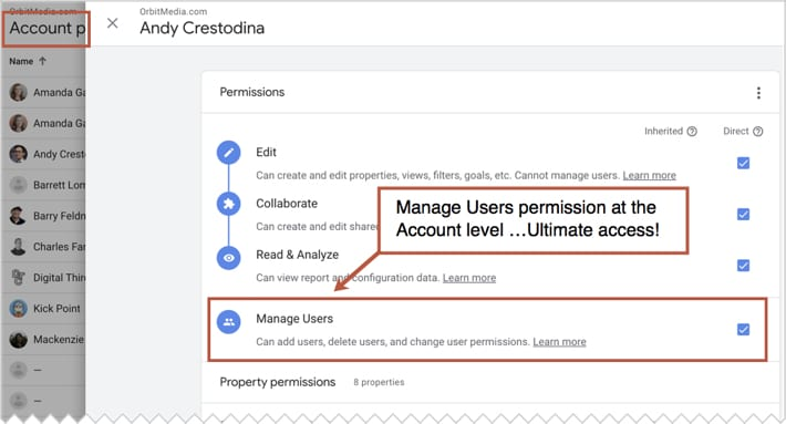 "How to Grant Access to Google Analytics (and confirm you have the ""Master Key"")"