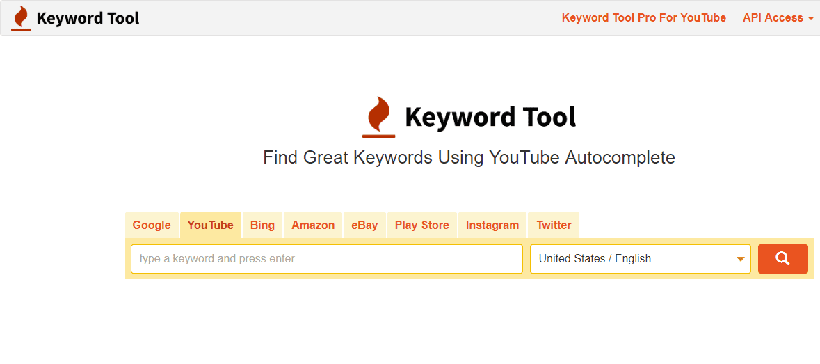 keyword tool for youtube keyword and tag research