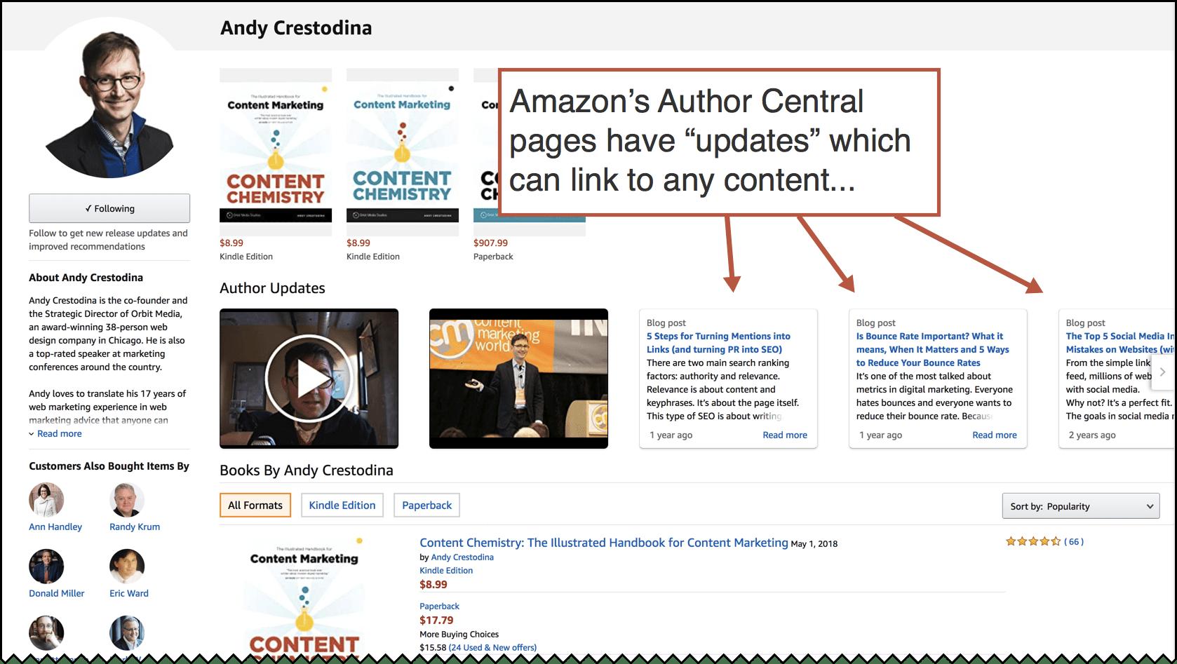 amazon author central example