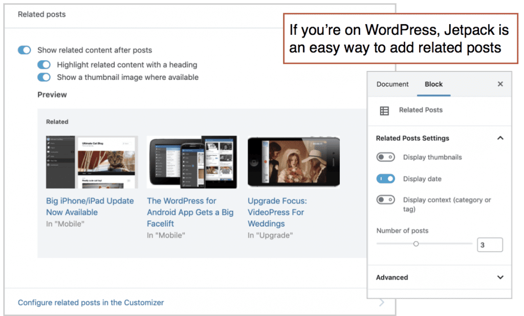 plugin that shows related posts